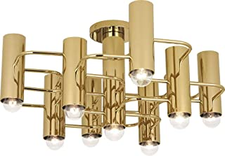 product image for Robert Abbey 804 Jonathan Adler Milano - Nine Light Flush Mount, Polished Brass Finish