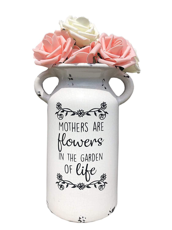 Amazon Com Farm House Milk Jug Mothers Day Gift Ceramic Milk Can Customized Flower Vase Handmade