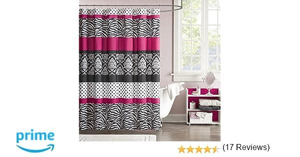 Amazon Mizone MZ70 350 Mi Zone Reagan Microfiber Shower Curtain 72x72 Pink72x72 Home Kitchen