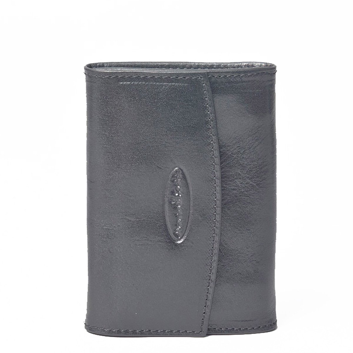 Maxwell Scott Luxury Black Leather Wallet for Ladies - Small (The Fontanelle)