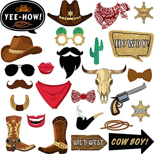 Pieces Cowboy Western Decorations Supplies product image