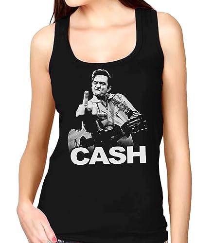 35mm - Camiseta Mujer Tirantes - Johnny Cash - Fuck You - Women'S Tank Top