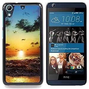 TikTakTok Funda Carcasa protectora para HTC Desire 626 - Beach Sunset Waves