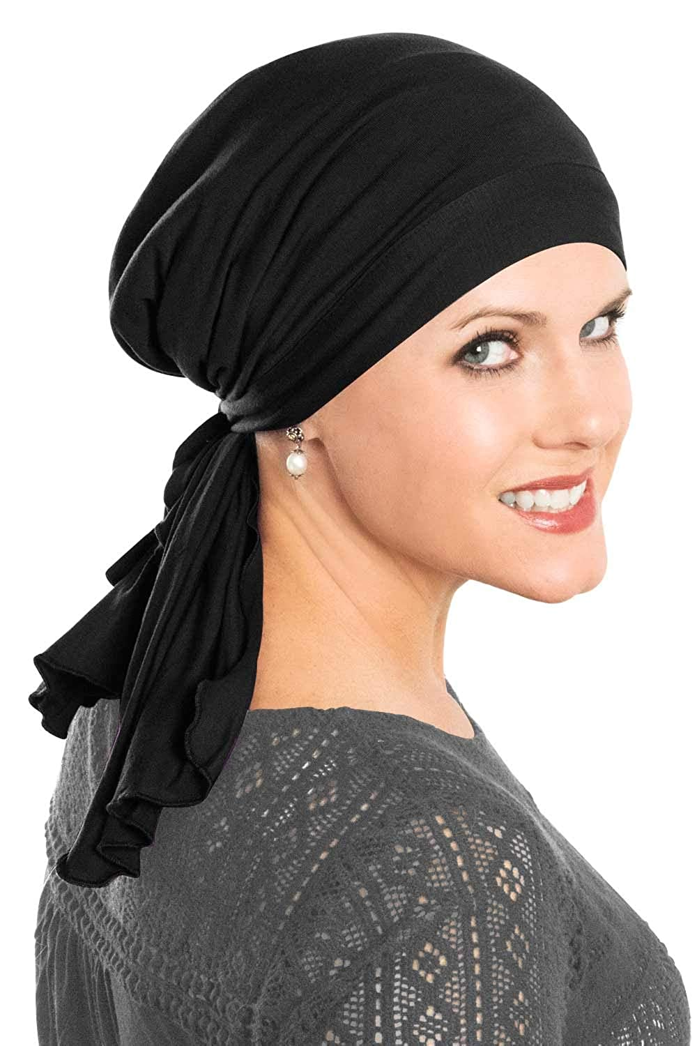 Cardani So Simple Scarf - Pre Tied Head Scarf for Women in Soft Bamboo -  Cancer   Chemo Patients Luxury Bamboo - Black at Amazon Women s Clothing  store  faac4efde69