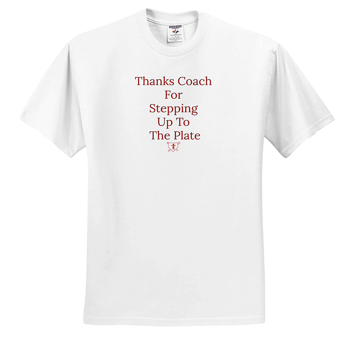 ts/_317427 3dRose Carrie Merchant Image Quote Image of Thanks Coach for Stepping Up to The Plate Adult T-Shirt XL