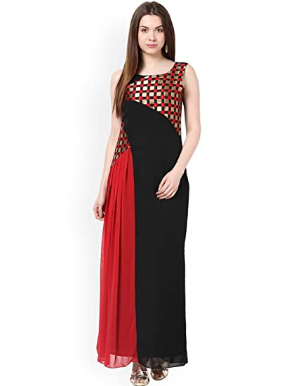 Athena Black Red Maxi Dress At Amazon Womens Clothing Store