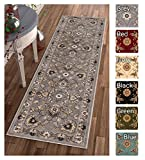 Sultan Sarouk Grey Oriental Area Rug Persian Formal Traditional Area Rug 2' x 7' Runner Easy Clean Stain Fade Resistant Shed Free Modern Classic Contemporary Thick Soft Plush Living Dining Room Rug