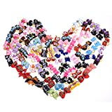 50 pcs Pets Dog Bows Grooming Pet Charms Mix Designs Hair Accessories