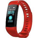 KingProst-Fitness Bluetooth Smartwatch Pulsuhren Armbanduhr Sport Uhr Fitness Tracker mit Pulsmesser SchrittzäHler Schlaftracker Kompatibel mit iPhone Android Handy