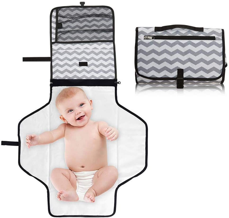 Cambiador Portátil de Pañales para Bebé, Cozywind Impermeable Bolsa para Cambio de Pañales en Viajes