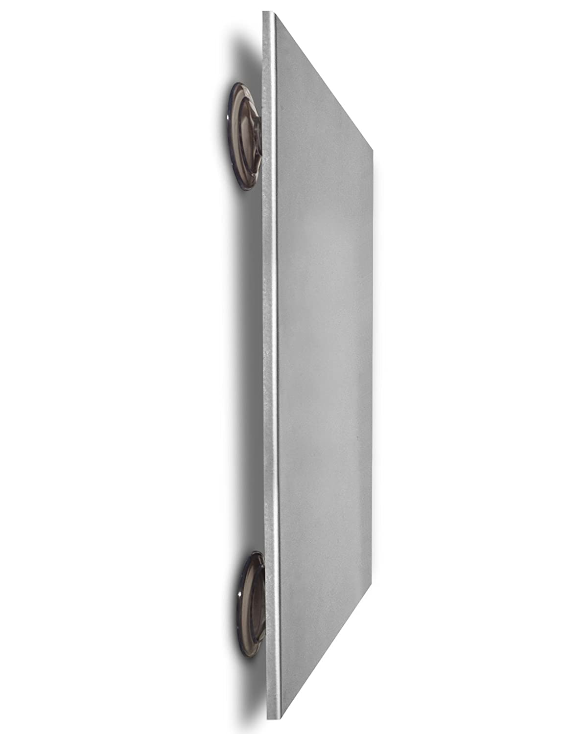 Magnetic Board with Suction Cups - for Stainless Steel Refrigerators! (Arctic Silver, 13.5 x 11.5 inches (Medium))