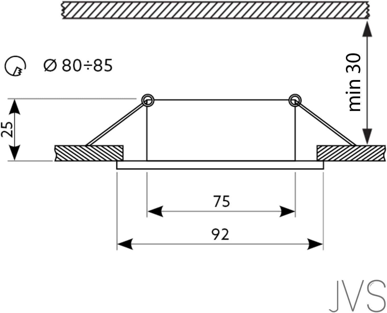 LED Einbaustrahler Schwenkbar extra-flach STAR Quadratisch Matt-Chrom/Silber Inkl. 6 X 5W LED Modul Einbautiefe: 30 mm Warmweiß 230V IP20 Deckenstrahler Einbauleuchte Deckeneinbaustrahler Einbauspot 7er Set
