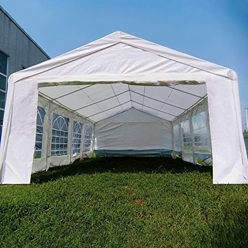 Quictent 13′ x 26′ Heavy Duty Outdoor Gazebo Wedding Party Tent BBQ Canopy Carport with 3 Carry Bags