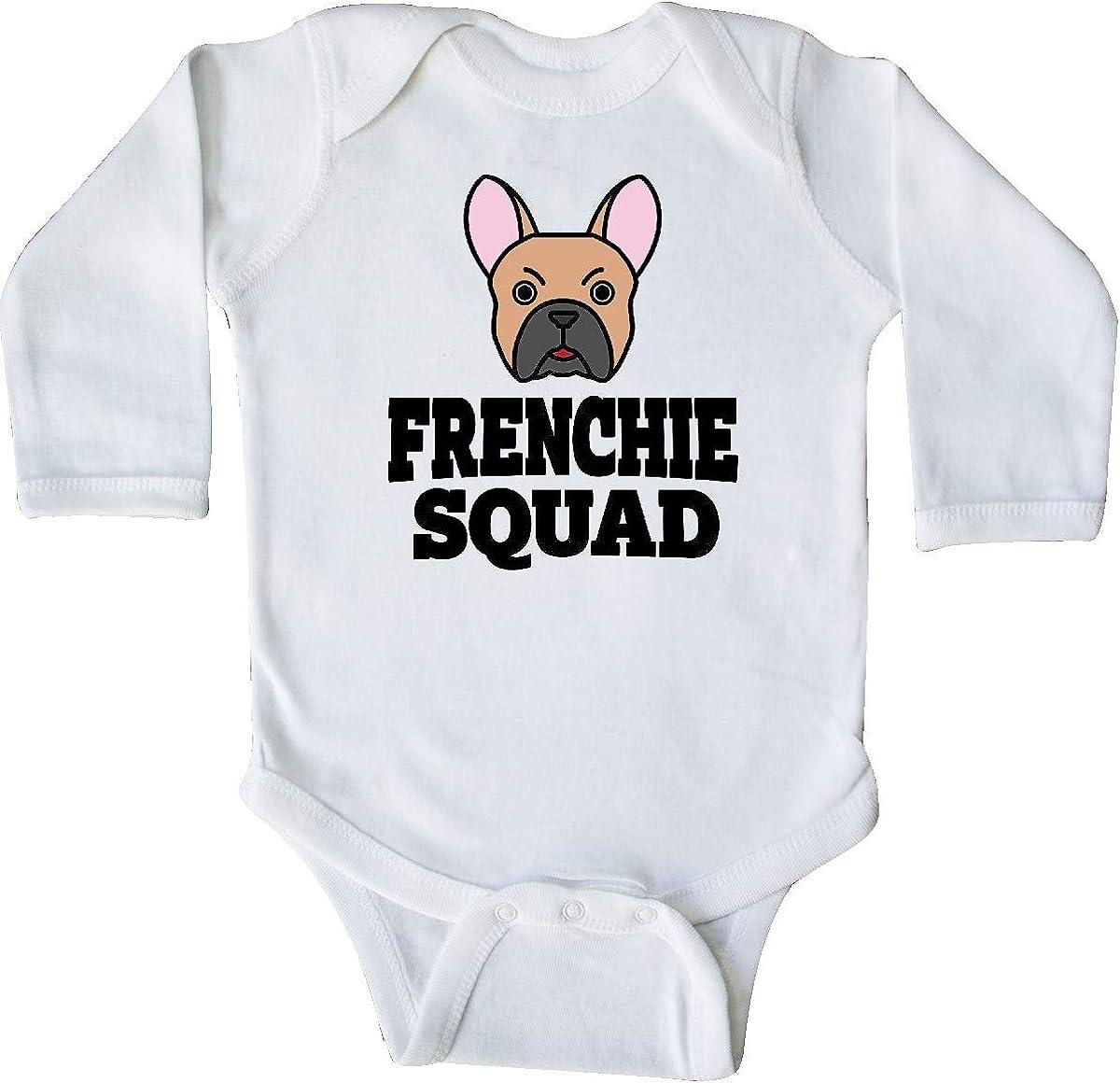 inktastic Dog Frenchie Squad Long Sleeve Creeper