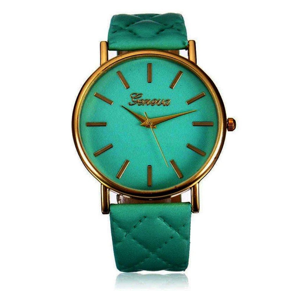 START Fashion Women Roman Casual Leather Band Wrist Watch-Green