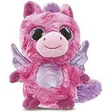 YooHoo & Friends - Peluche con ojos brillantes Pegasus, 13 cm, color rosa (