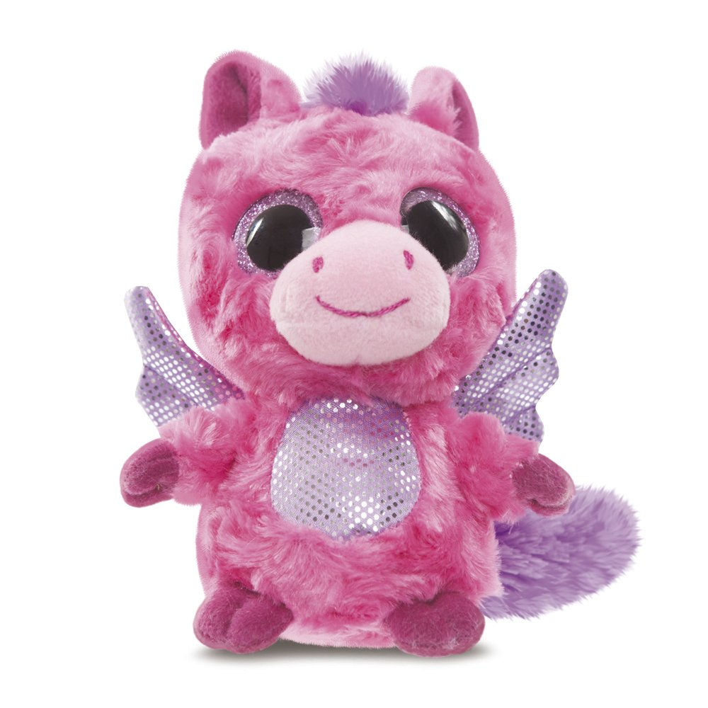 YooHoo & Friends - Peluche con ojos brillantes Pegasus, 13 cm, color rosa (