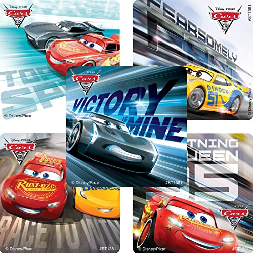 Cars 3 Movie Stickers - Prizes and Giveaways - 100 per Pack