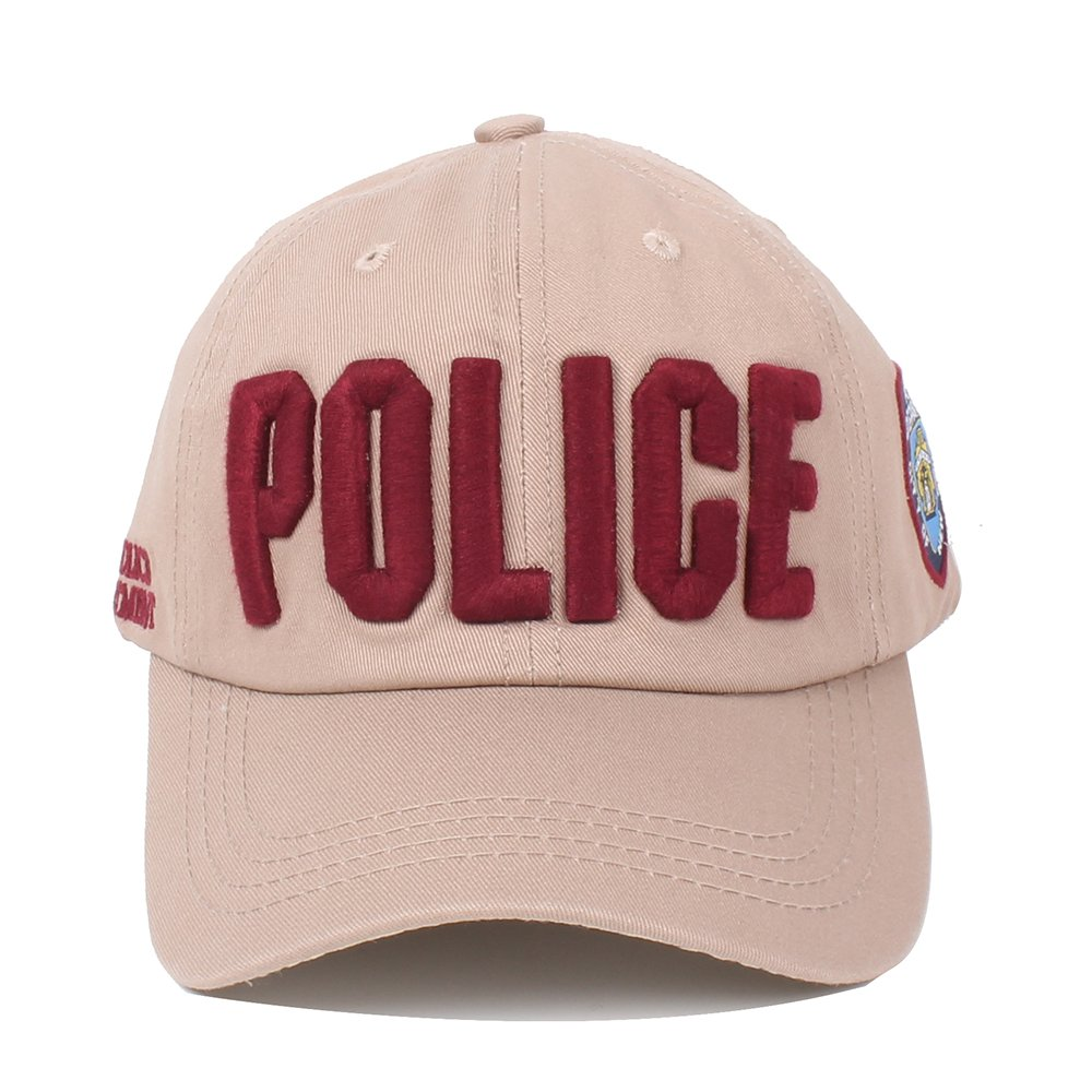 ... Vankerful Police Hat for Men and Women Unisex Embroidered Hats  Adjustable Baseball Caps Snapback ... 5a03b74af58d