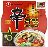 Gourmet Food : Nongshim Shin Big Bowl Noodle Soup, Gourmet Spicy, 3.03 Ounce (Pack of 12)