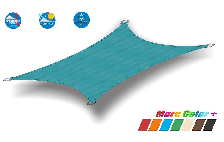 Insun 日除け シェード 防水 遮光率95% オックスフォード布 シェードセイル 日よけ シェード アウトドア 紫外線カット 矩形 アクアマリン 2x3m B07D5VWK6T 2mx3m|アクアマリン アクアマリン 2mx3m