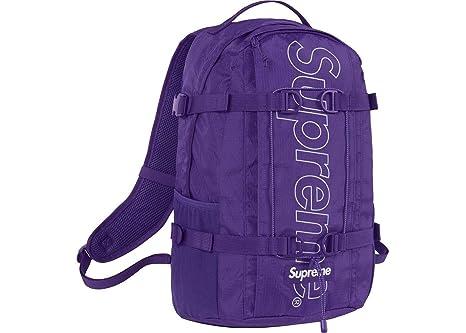 7037182c6 Supreme Backpack Purple FW18 Brand New 100% Authentic Real SUPREMENEWYORK  BAG RARE