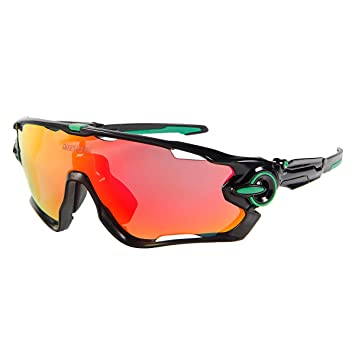 Queshark Cyclisme Lunette de soleil Homme Lunette de Sport Antireflet, anti-ultraviolet, Anti déflagrant Vélo équipement de Plein Air Meilleure Protection Pour (Color 15 lentille bleu)