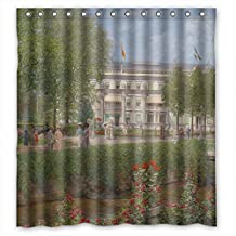 ElenaHarper Valentine Day Shower Curtains Of Beautiful Scenery Landscape Painting Polyester Width X Height / 66 X 72 Inches / W * H 168 By 180 Cm Best Fit For Family Teens Father Him Custom. Dries Quick