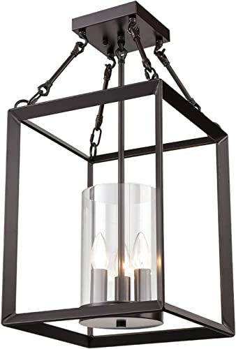 Dazhuan Vintage 3-Lights Metal Cage Chandelier
