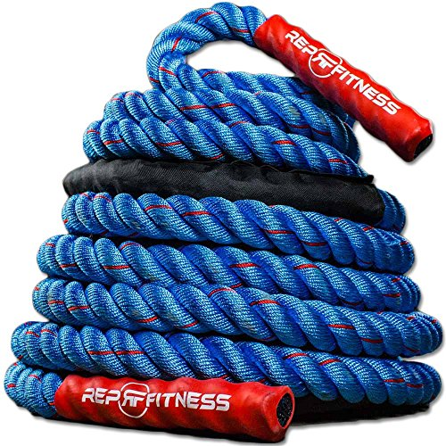 Rep V2 Blue/Red Battle Rope, 1.5 inch - 30 ft