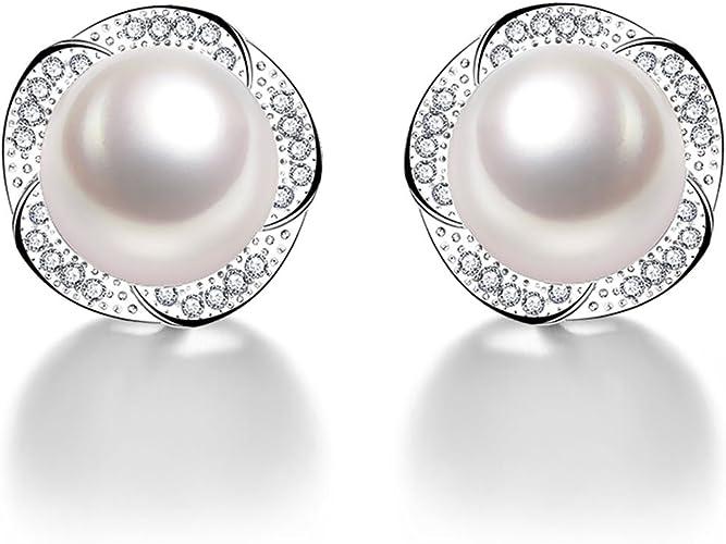 silver /& freshwater pearl earring white