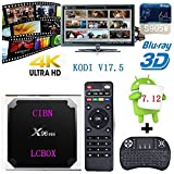 [2018 New] X96 mini Android 7.12 v17.5 Smart TV BOX Amlogic S905W Quad Core Suppot H.265 4K 30tps 2.4GHz WiFi Media Player IPTV+Mini Wireless Keyboard