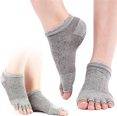 Pilates Barren/übungen 1er und 2er Sets rutschfest YogaAddict zehenfreie Socken f/ür Yoga Tanz