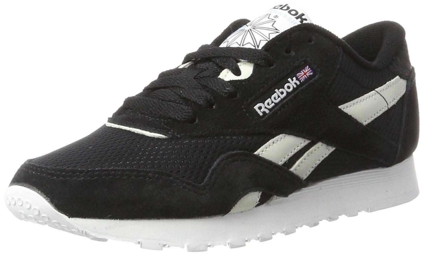 Reebok Classic Nylon Fbt, Zapatillas para Mujer 39 EU Negro (Black / White / C.blue / Electric Flash)
