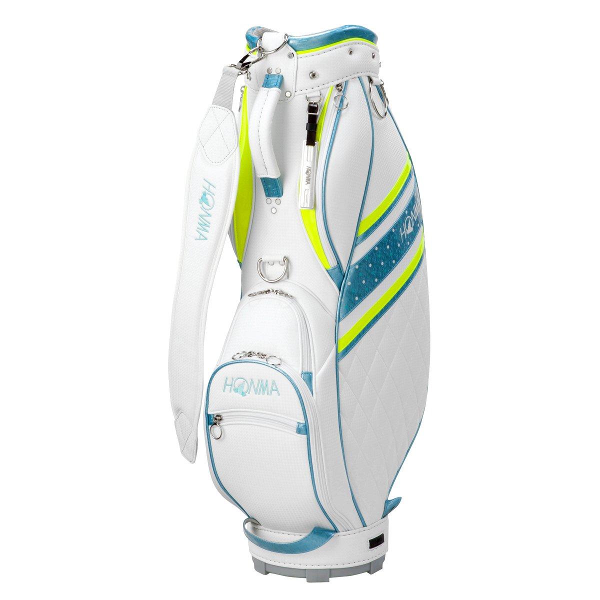本間ゴルフ キャディーバッグ HONMA レディース キャディバッグ 8.5型 47インチ対応 ホワイト カジュアルモデル CB-6701 ホワイト B0749G38CJ