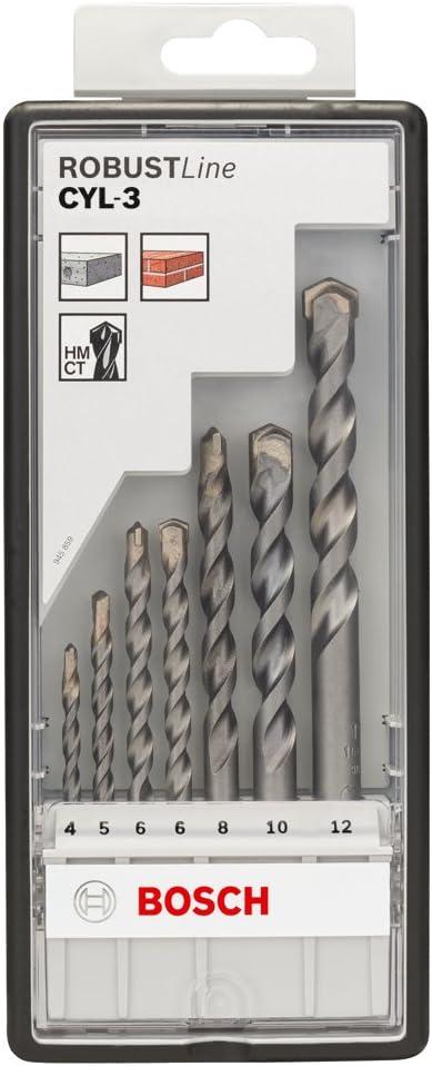 Bosch 2607010545 Set de 7 Forets /Ã/ b/Ã/©ton Robust Line CYL-3 4// 5// 6// 6// 8// 10// 12 mm