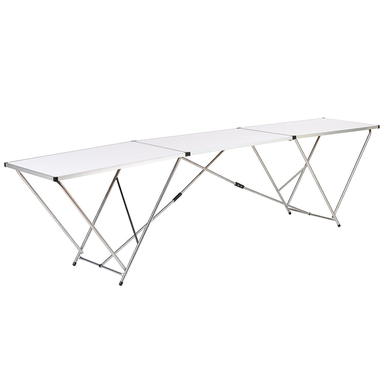 Hartleys Tavolo pieghevole grande in alluminio 3 metri - Bianco - Per eventi, giardino, bricolage