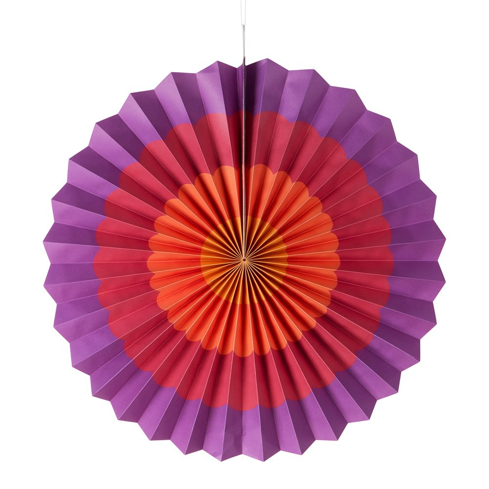 MOWO Hanging Paper Fan Set for Wedding/ Christmas Decoration, Home Decor Supplies Flavor(Assorted Color, 12 pcs) by MOWO (Image #3)
