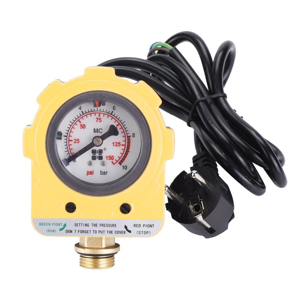 220 V 0 ~ 10 Bars Interruptor Electró nico unidad de Presostato ajustable para bompe de agua (enchufe de la UE) Hilitand