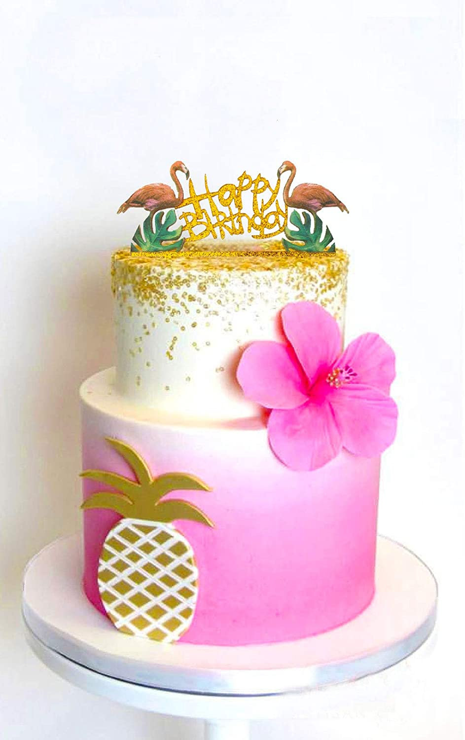 Terrific Usa Sales Happy Birthday Cake Topper Birthday Flamingo Cake Personalised Birthday Cards Veneteletsinfo