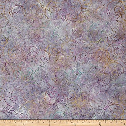 Robert Kaufman Kaufman Artisan Batiks Regal 3 Swirls Mauve Fabric by The Yard,