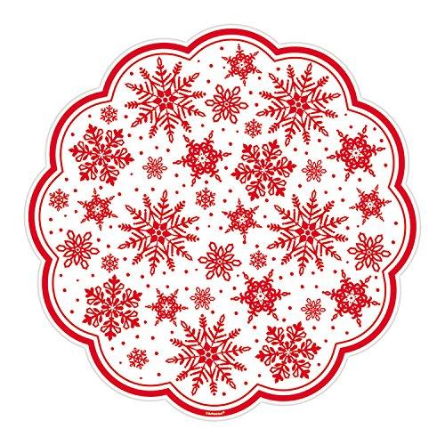 Amscan Christmas Snowflake Doilies, White