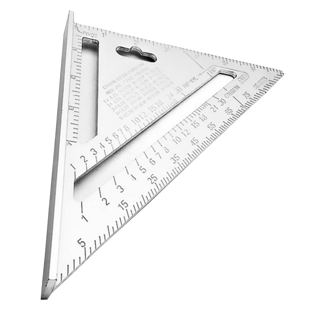 Huatuo® Triangular Measuring Ruler 7 Inch Metric Aluminum Alloy Speed Square Roofing Triangle Angle Protractor Trammel Tools New 2017
