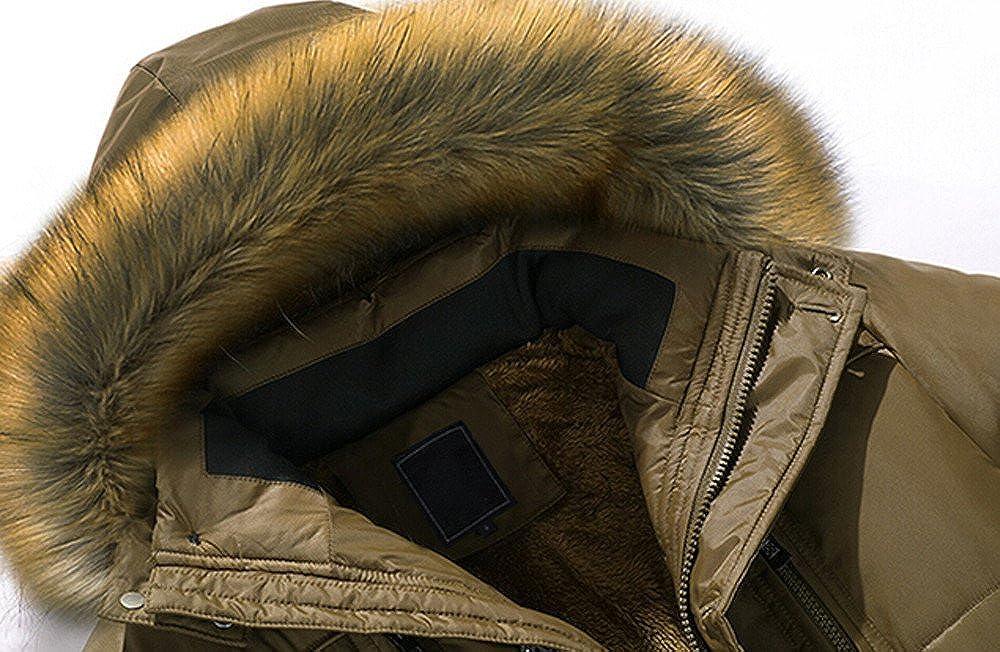 Balakie Stylish Mens Winter Down Cotton Jacket Fur Hood Thick Coat Outwear Parka