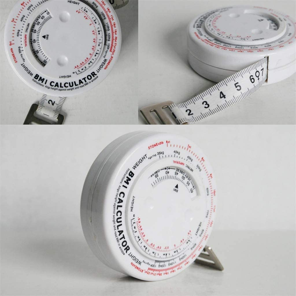 QNJM 150cm Tape Measures Retractable Measurement BMI Body Mass Index Tape Body Calculator Diet Weight Loss Tape Measures Tools