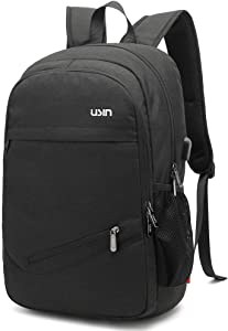 Laptop Backpack,Business Anti Theft Slim Durable Laptops Backpack,Water Repellent School Backpack with USB Charging Port Fits 15.6 inch (Black)