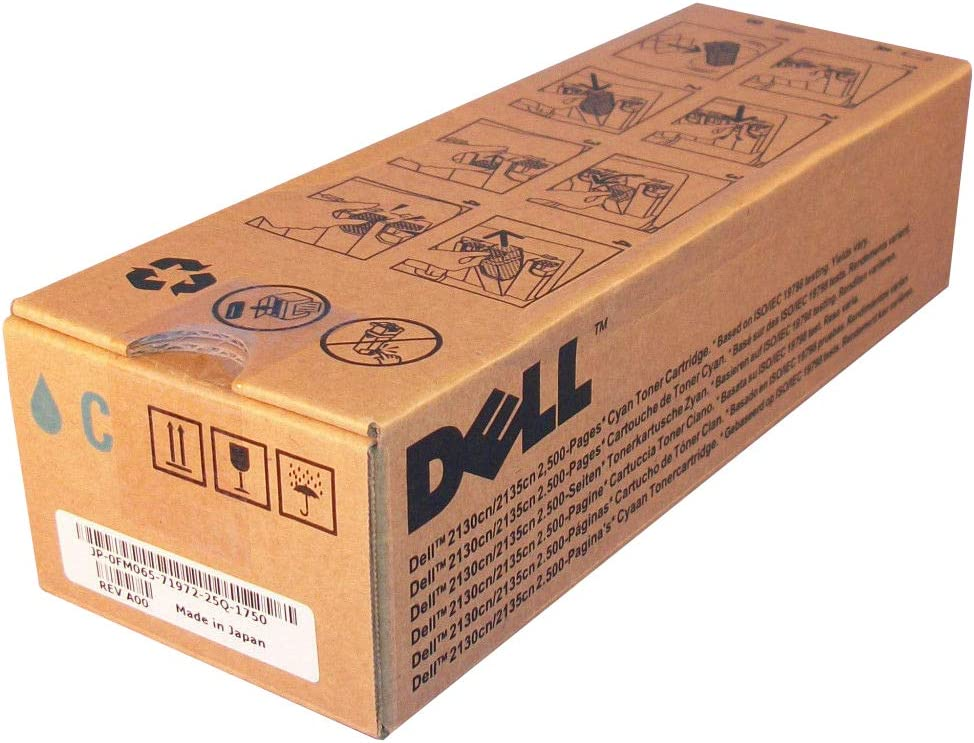 Genuine Dell (FM065) High Yield Cyan Laser Toner Cartridge (up to 2,500 pages)