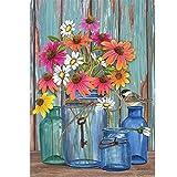 ❤Ywoow❤ Garden Flag, Farm Fresh Flowers Spring Garden Flag Mason Jars 12.5 x 18inch Garden Decoration
