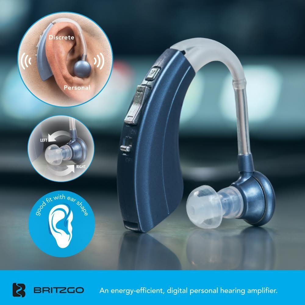 Single Blue Premium Quality Hearing Amplifier Living Aids Amplifiers Accessories Comfortable And Easy To Operate B 220 Ha Bs By Britzgo Health Personal Care