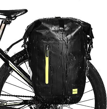 Selighting Bolsas Sillín Bicicleta Portaequipajes Alforjas Trasera para Bicicleta Impermeable y Multifunción Alforja Asiento Trasero Carrier para Ciclismo,Viaje 25L ...